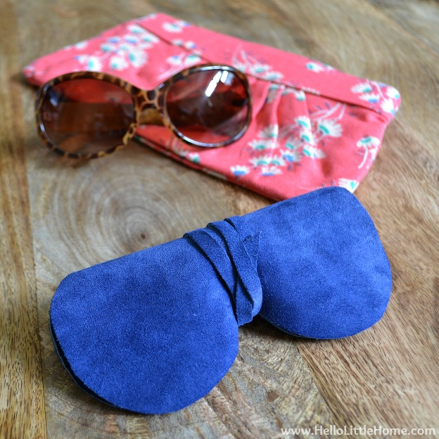 15 DIY Fashion Accessories You Can Make: Suede Sunglasses Case | Hello Little Home
