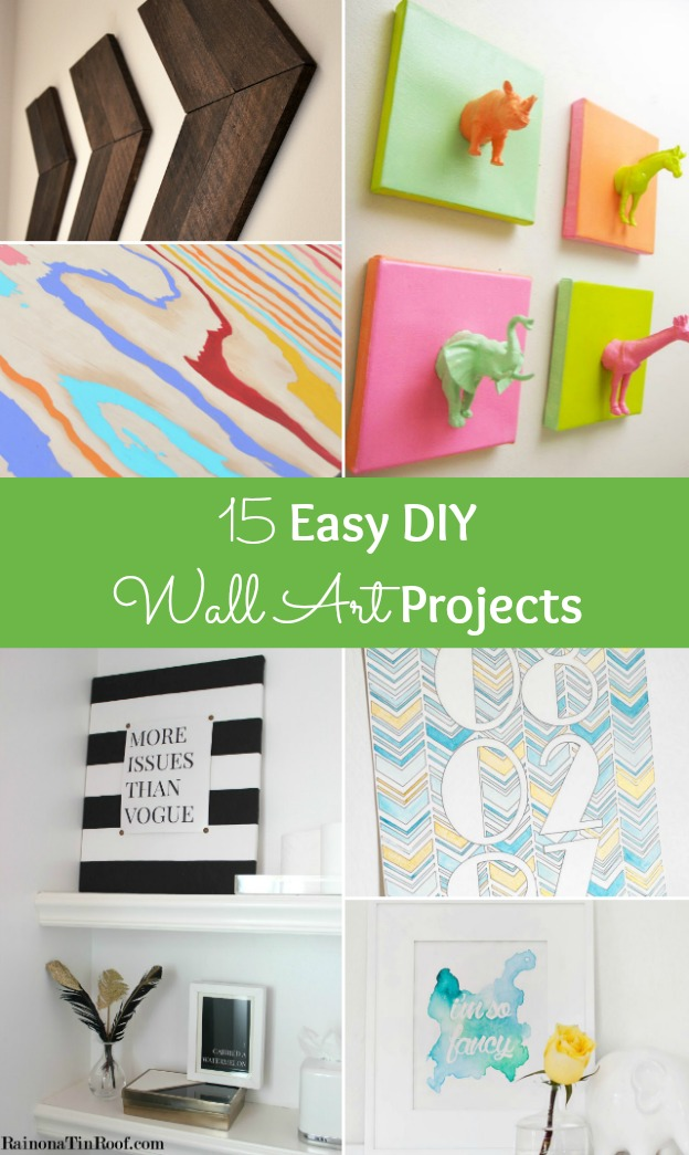 15 easy diy wall art projects for Diy craft projects easy