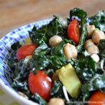Easy Kale Salad with Lemon Garlic Dressing