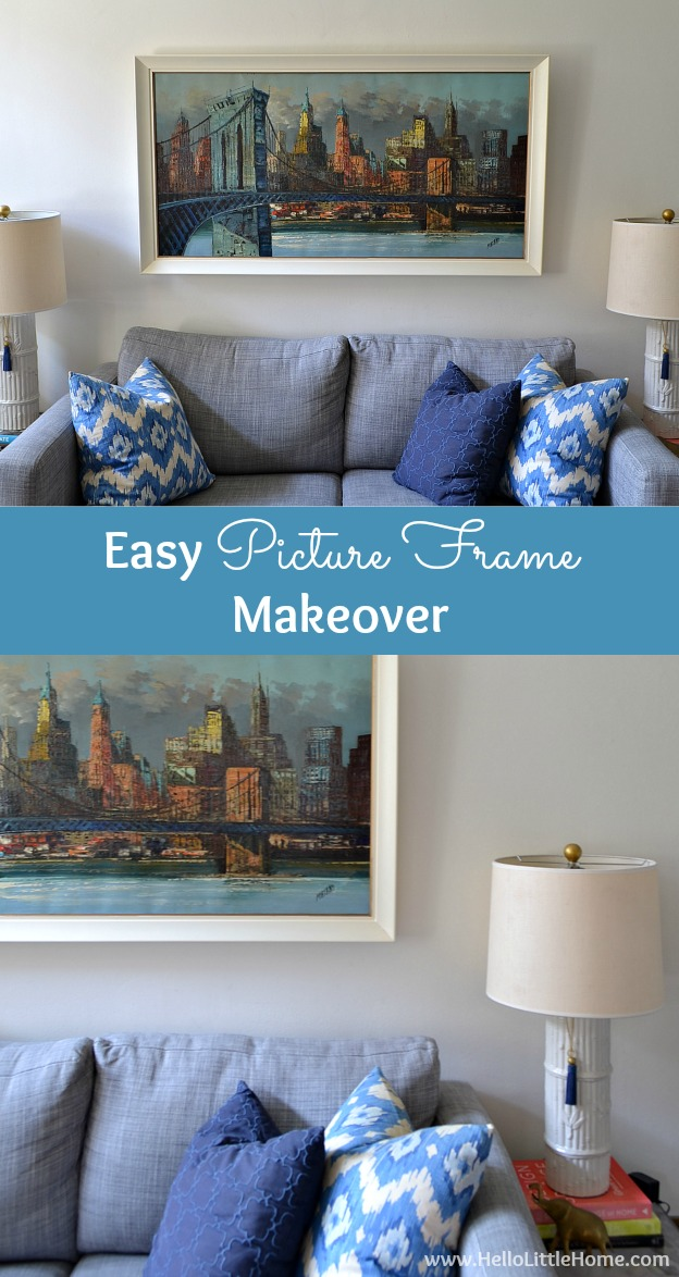 Update dated artwork with an easy picture frame makeover! | Hello Little Home