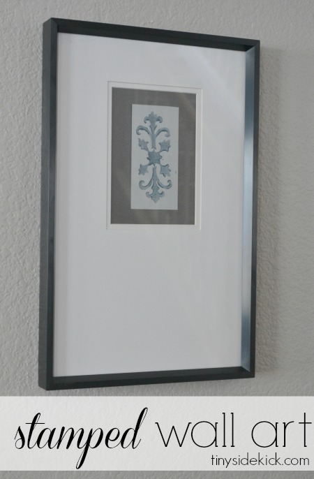 15 Easy DIY Wall Art Projects: Stamped Wall Art   Hello Little Home #crafts #artwork
