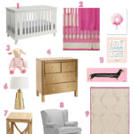 This Modern Girl's Nursery is perfect for your little princess! | Hello Little Home