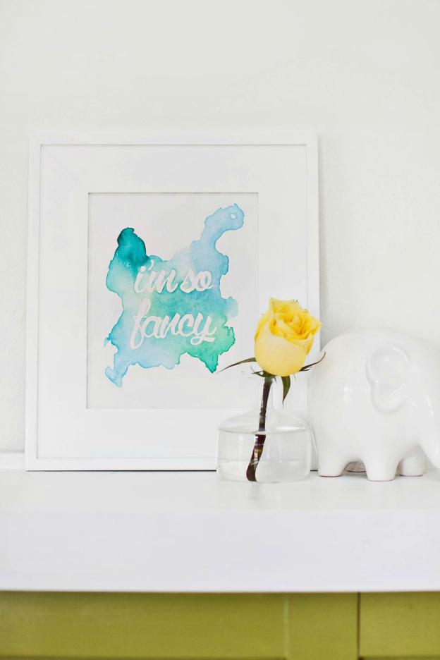 15 Easy DIY Wall Art Projects: Watercolor Quote Art | Hello Little Home #crafts #artwork