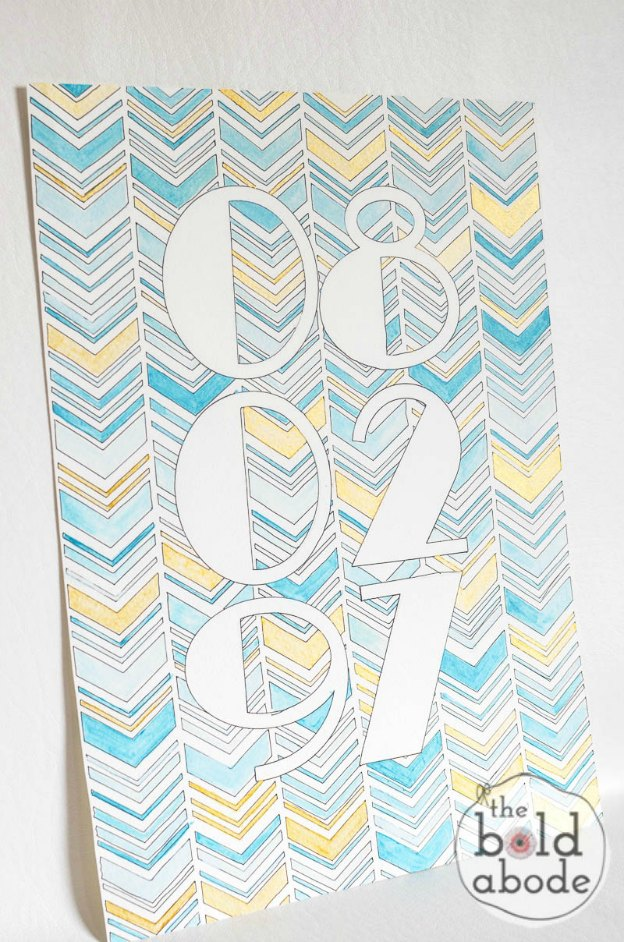 15 Easy DIY Wall Art Projects: Wedding Date Art | Hello Little Home #crafts #artwork