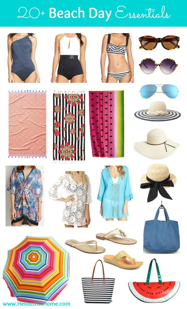 Head to the beach in style with over 20 Beach Day Essentials! | Hello Little Home #SummerStyle