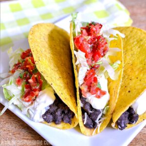 Crunchy Black Bean Tacos with Fresh Salsa