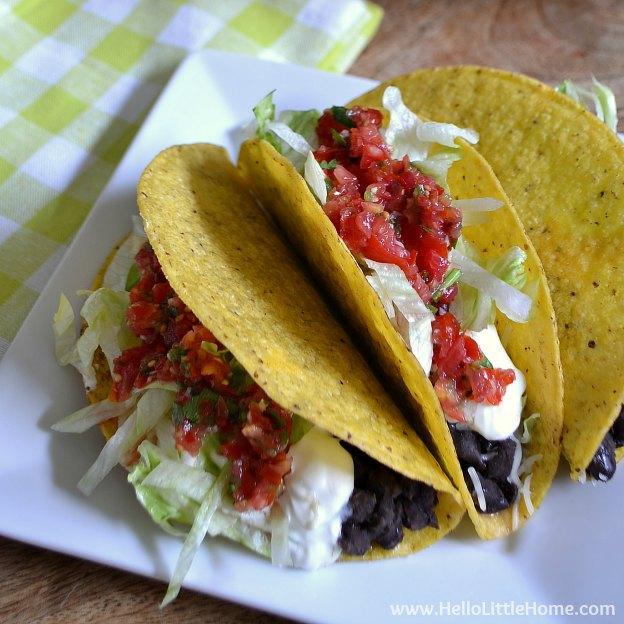 Crunchy Black Bean Tacos with Fresh Salsa