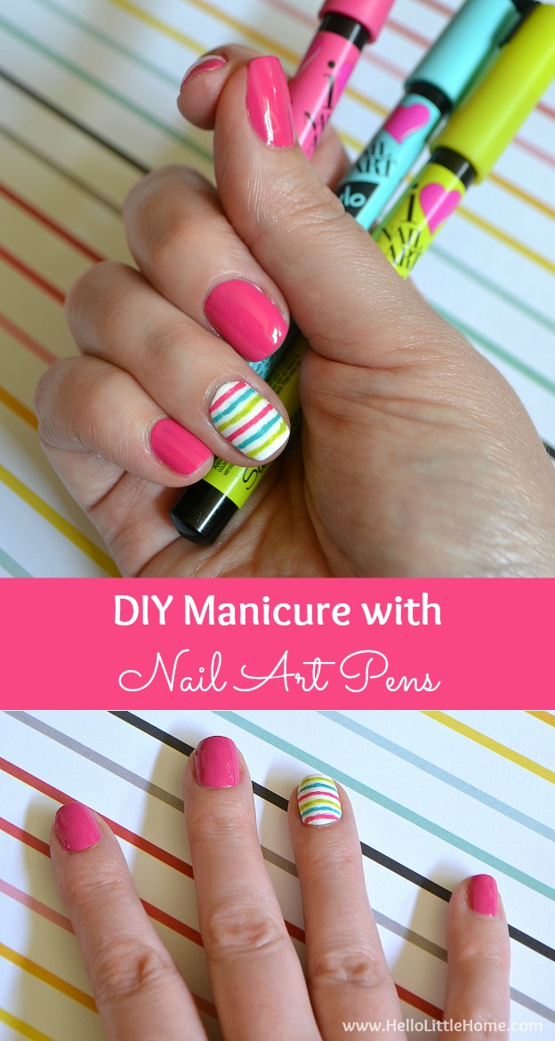 Add a little fun to your fingertips with this DIY Manicure with Nail Art!   Hello Little Home