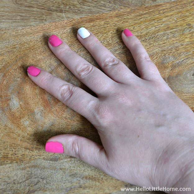 DIY Manicure with Nail Art: Painting the base colors. | Hello Little Home