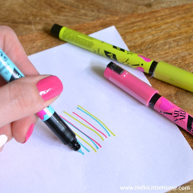 DIY Manicure with Nail Art: Testing the pens. | Hello Little Home