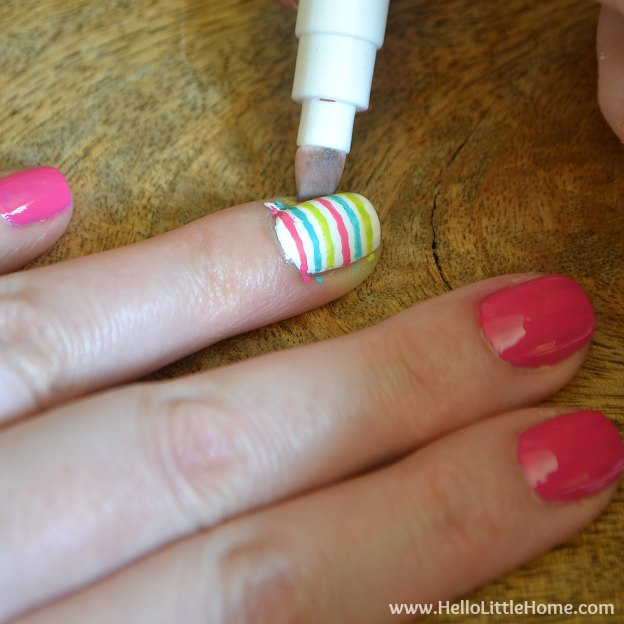 DIY Manicure with Nail Art: Cleaning up the cuticles. | Hello Little Home