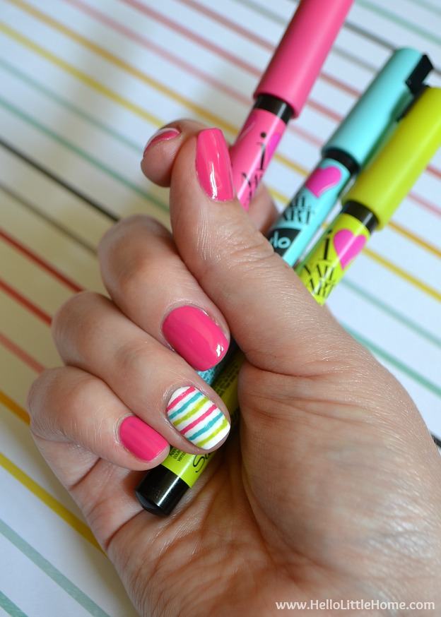 Add a little fun to your fingertips with this DIY Manicure with Nail Art! | Hello Little Home