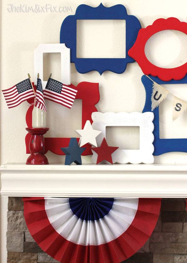 20+ Red, White, and Blue Projects for the 4th of July: Patriotic Red, White, and Blue from The Kim Fix Six | Hello Little Home #FourthOfJuly