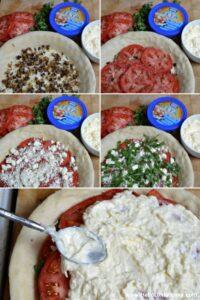 Preparing a Savory Tomato, Feta, and Basil Pie! | Hello Little Home #NikosFeta #WaveOfFlavor #HFWF15
