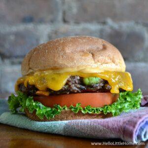 Smokey Black Bean Edamame Burgers