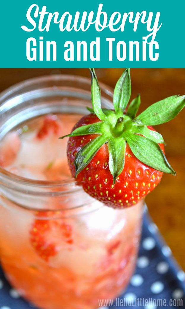 Strawberry Mint Gin and Tonic