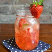 This Strawberry Mint Gin and Tonic is a simple and delicious twist on a classic G&T! | Hello Little Home #cocktail
