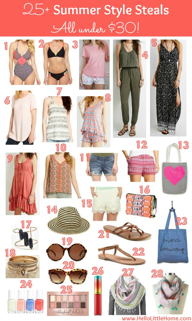 Update your summer wardrobe with these Summer Style Steals ... All under $30! | Hello Little Home