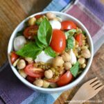 Tomato, Basli, and Mozzarella Freekeh Salad