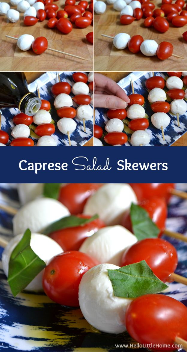 These Caprese Salad Skewers are the perfect party appetizer and take ...
