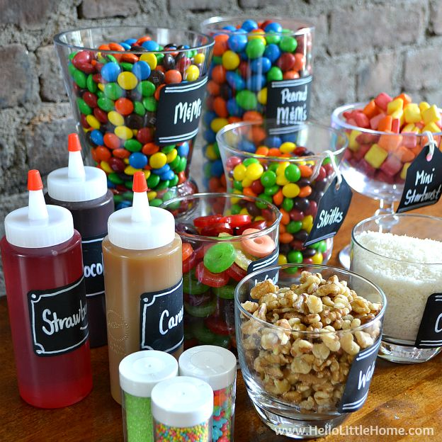 Diy Ice Cream Sundae Bar Tips Toppings More Hello