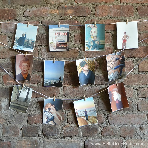 Add the perfect touch to any party with this DIY Photo Banner Tutorial!   Hello Little Home