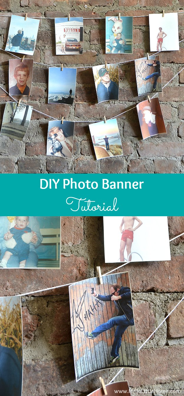 Add the perfect touch to any party with this DIY Photo Banner Tutorial! | Hello Little Home