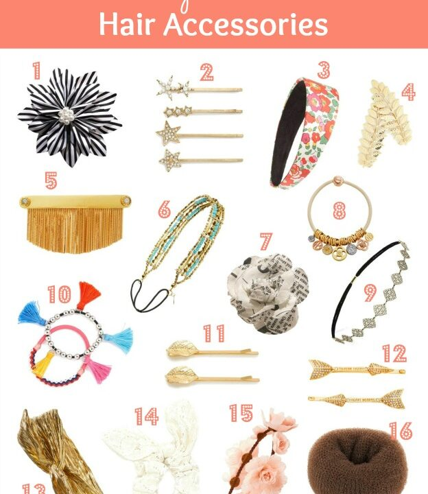 Dress up your locks with these pretty summer hair accessories! | Hello Little Home