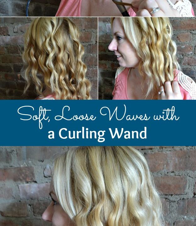 An easy, step-by-step tutorial for getting soft, loose waves with a curling wand! | Hello Little Home #hairstyle