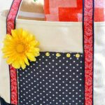 A cute tote bag craft ... decorate a plain canvas tote bag with fabric, ribbon, and more.