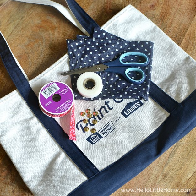 Tote Bag Makeover Supplies | Hello Little Home