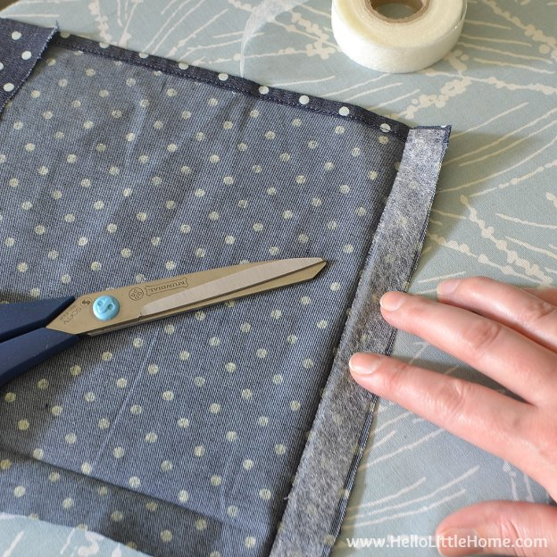 Preparing fabric for a tote bag makeover! | Hello Little Home