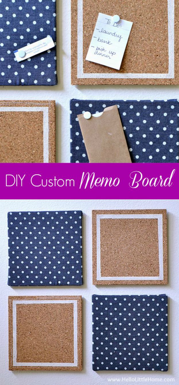 Get organized with a DIY Custom Memo Board! | Hello Little Home