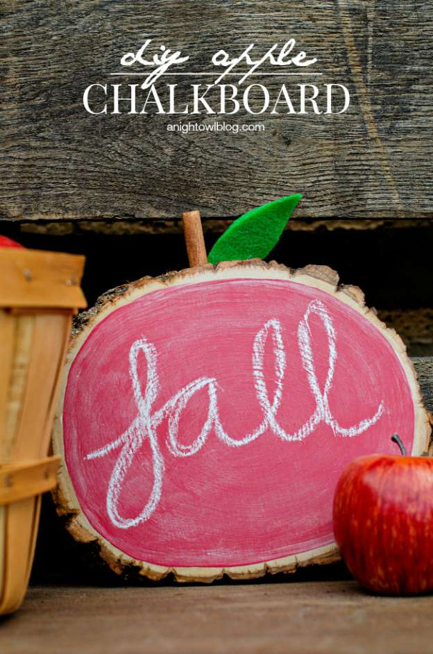 DIY Fall Decorating Ideas: Apple Chalkboard from A Night Owl | Hello Little Home