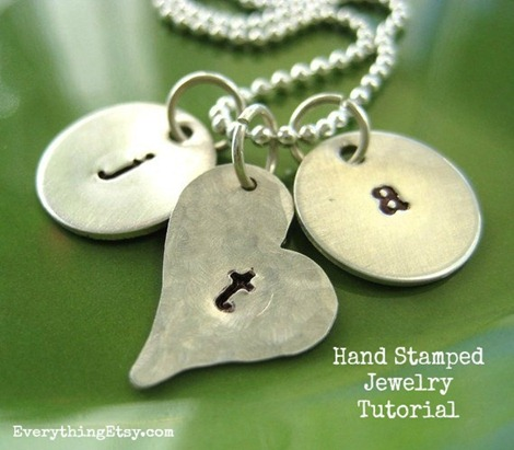 20+ DIY Jewelry Tutorials: Hand Stamped Necklace from Everything Etsy | Hello Little Home