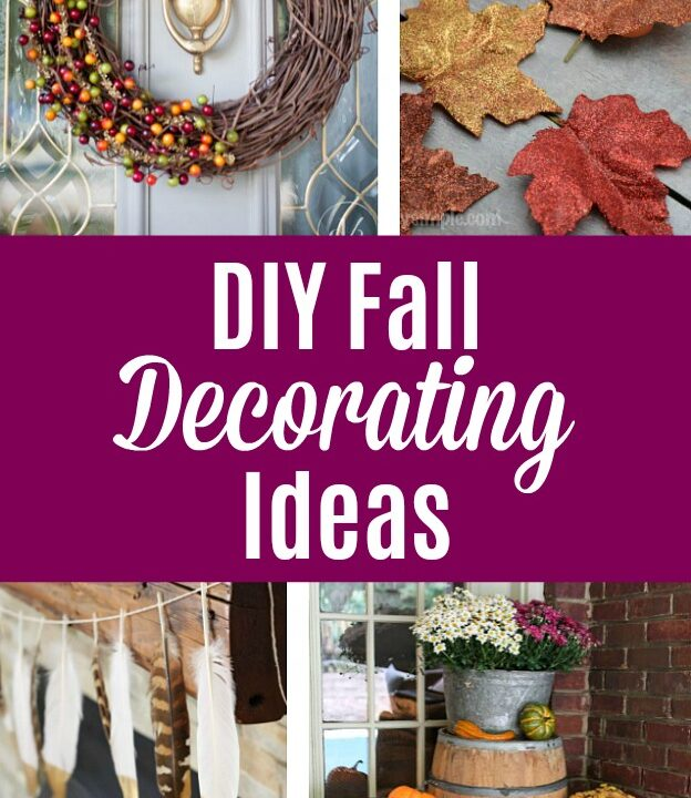 Collage of DIY Fall Decorating Ideas