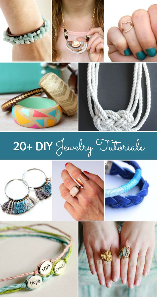 20+ DIY Jewelry Tutorials | Hello Little Home