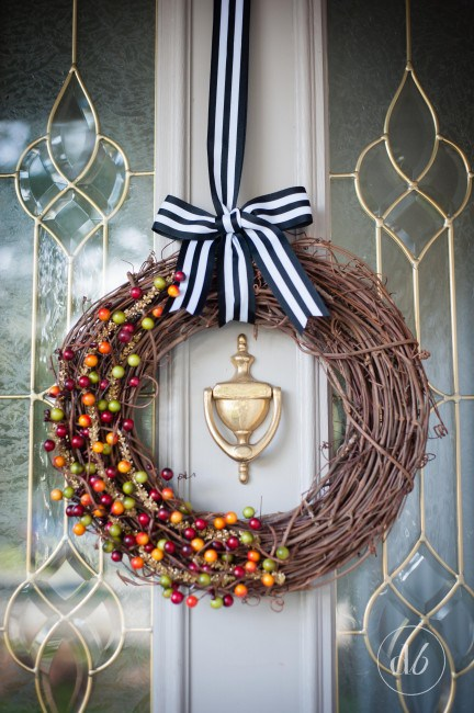 DIY Fall Decorating Ideas: Fall Wreath from Dwell Beautiful | Hello Little Home