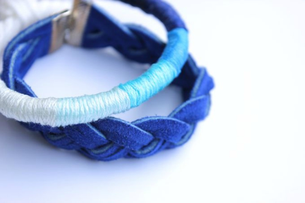 20+ DIY Jewelry Tutorials: Wrapped Bracelet from Lines Across | Hello Little Home