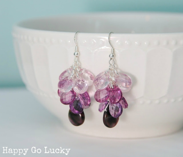 20+ DIY Jewelry Tutorials: Ombre Earrings from Happy Go Lucky | Hello Little Home
