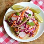 Quick Tofu Tacos with Crunchy Veggie Slaw