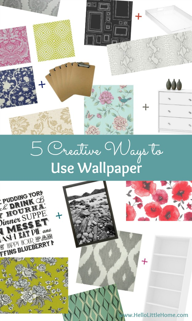 5 Creative Ways to Use Wallpaper ... other than on your walls! Try these easy DIY wallpaper projects to inspire your creative home decor! | Hello Little Home