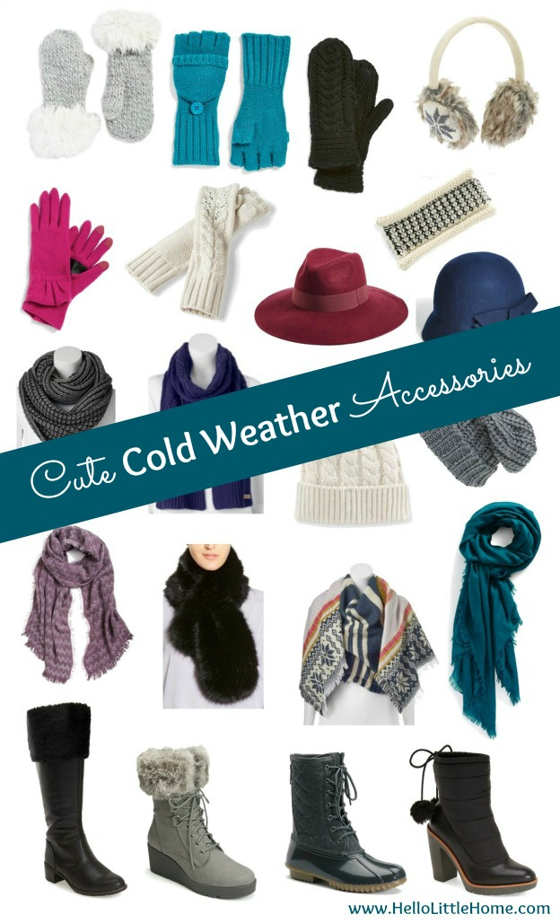 Warm up with these cute cold weather accessires this fall and winter! | Hello Little Home