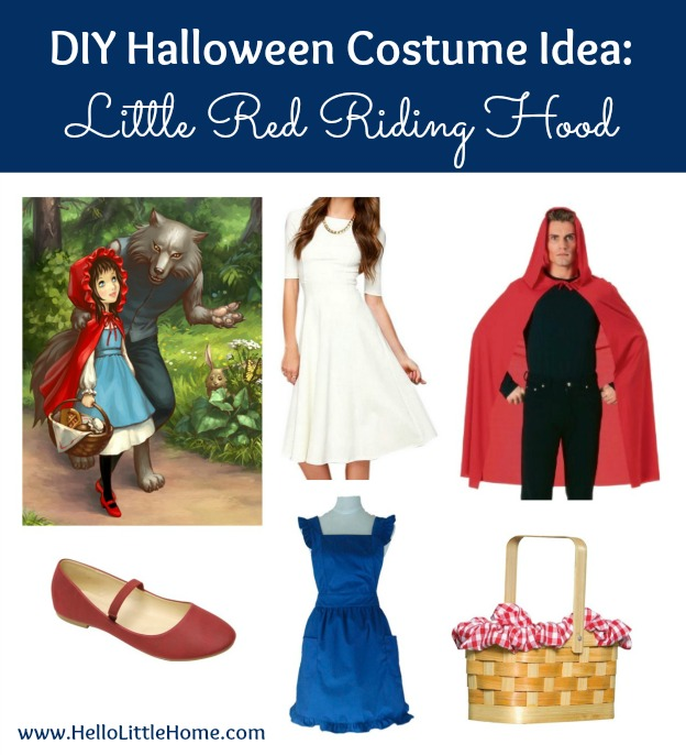 3 DIY Halloween Costume Ideas: Little Red Riding Hood (click through for 2 more!) | Hello Little Home