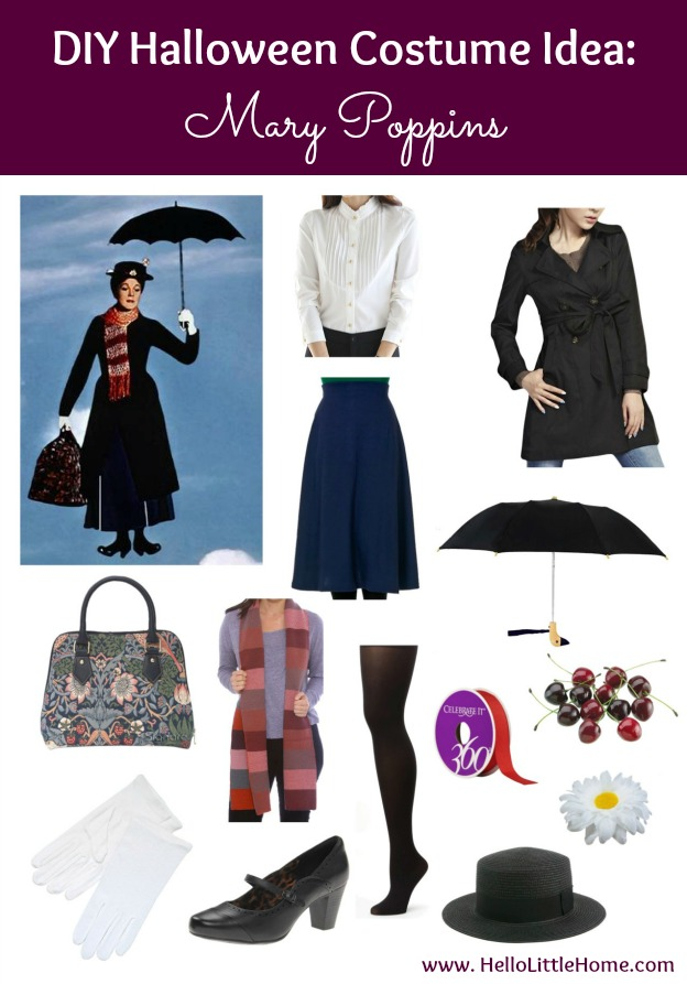 3 DIY Halloween Costume Ideas Mary Poppins (click through for 2 more!)  sc 1 st  Hello Little Home : mary poppins costume idea  - Germanpascual.Com