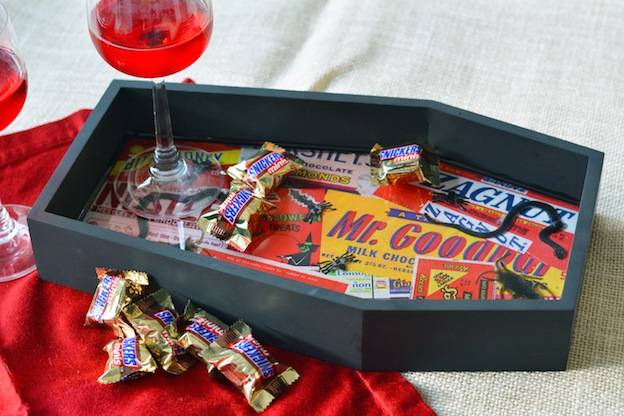 DIY Halloween Craft Ideas: Creepy Crawly Tray from Mod Podge Rocks | Hello Little Home