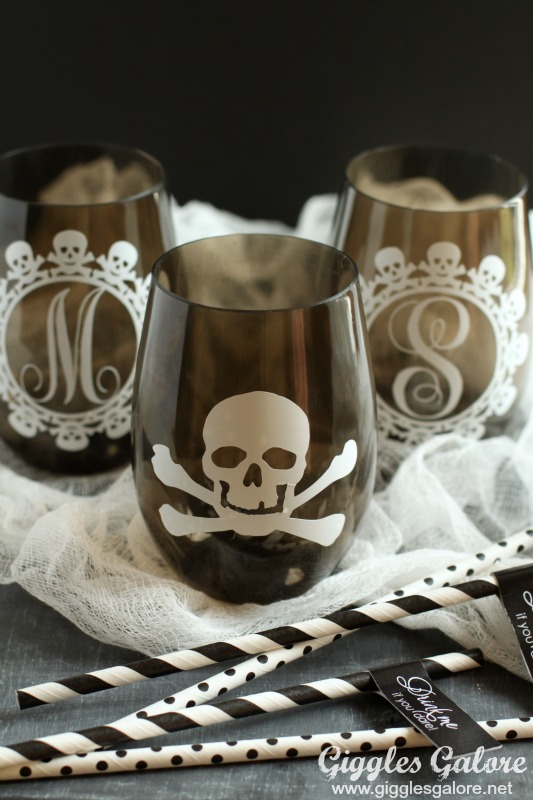 DIY Halloween Craft Ideas: Skull Cups from Giggles Galore | Hello Little Home