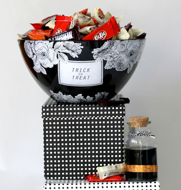 DIY Halloween Craft Ideas: Treat Bowl from Persia Lou | Hello Little Home