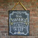 Decorate your home for holidays with this DIY Thanksgiving Chalkboard Art! Click through for a step by step tutorial! | Hello Little Home