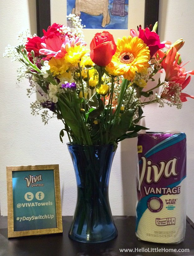 Beautiful flowers at the Viva® Vantage® #7DaySwitchUp Event!   Hello Little Home